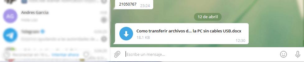 telegram archivos