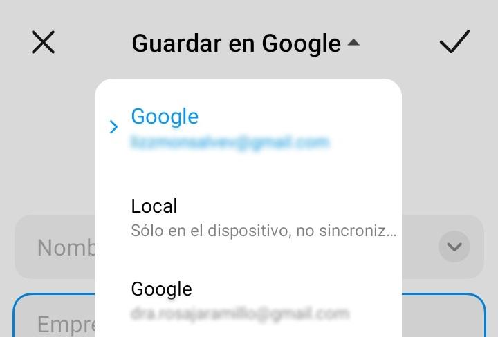 guadar en google
