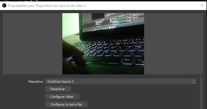 usar celular como webcam con DroidCam