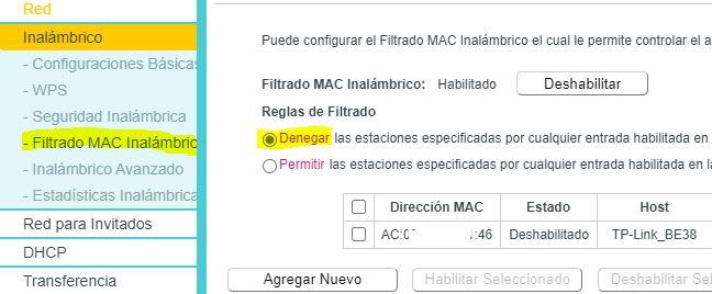 filtrado MAC