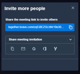 invitar personas together brave