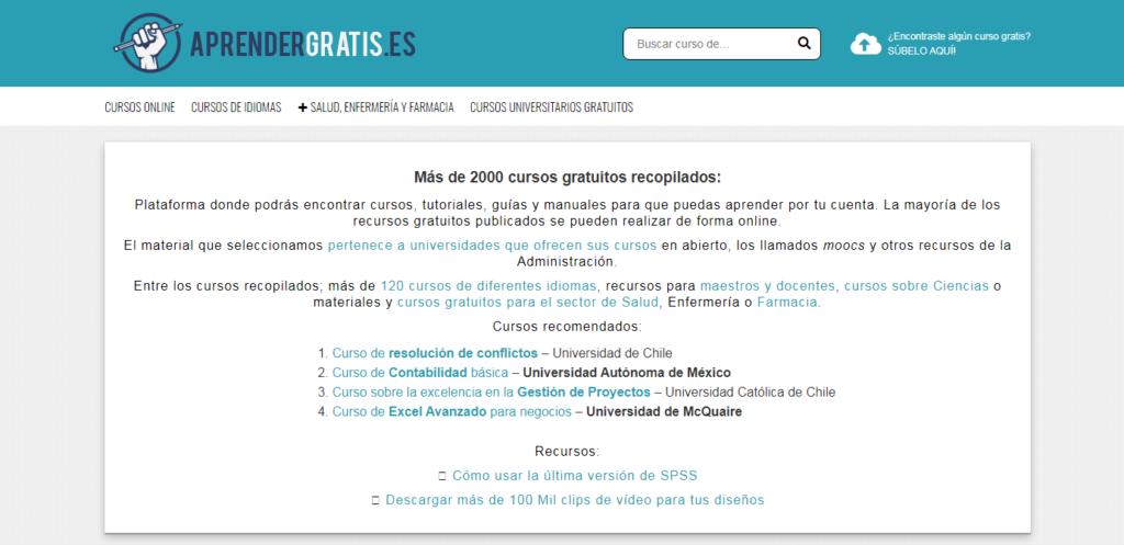 Web, cursos, certificado, gratis